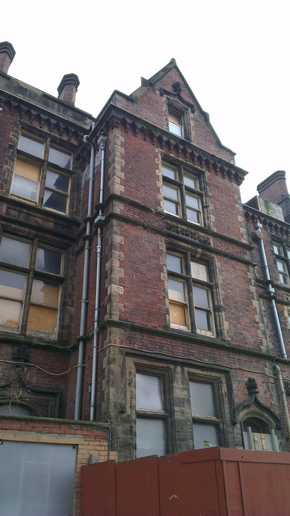 A closer look at some of the fine exterior features of the Edwardian wing